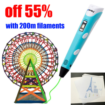 myriwell 3d pen handle 3d model printing pen with PLA ABS 1.75mm 3D Printing Materials Filament shipping from RUMoscow baby gift 3D Pens