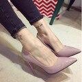 Новое Прибытие Ldies Острым Носом Обувь Стилет Дамы На Высоких Каблуках Весной Лакированной Кожи Европейский Женская Обувь 45