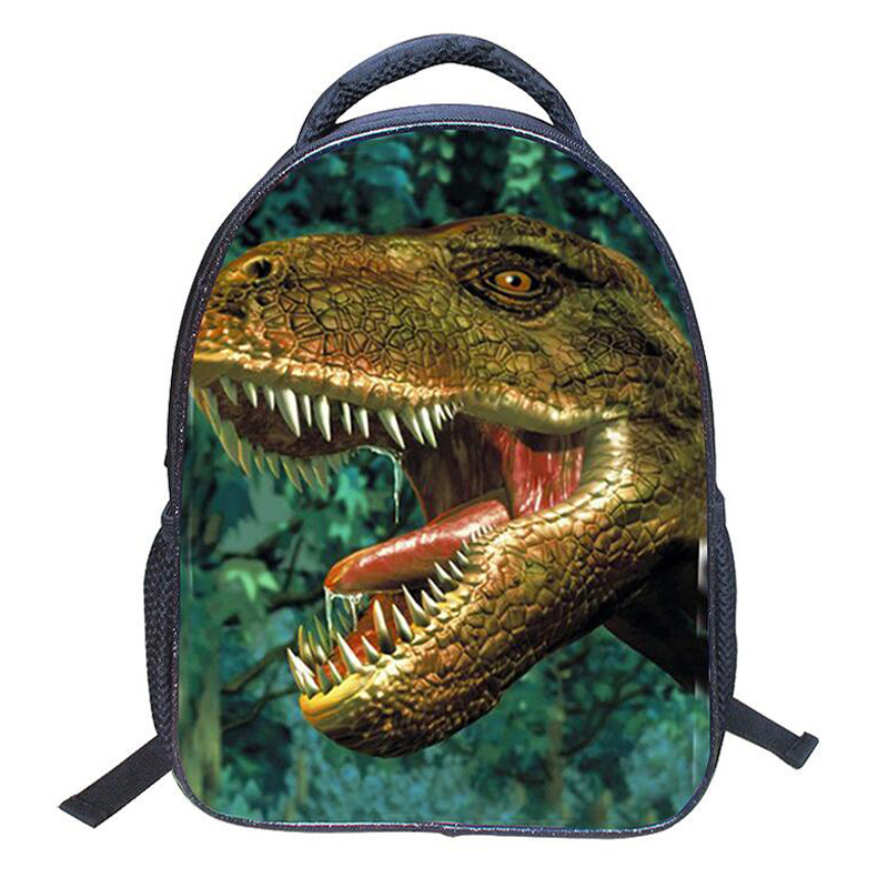 цены  Cool Children Backpack Jurassic Park Dinosaur Designer Small Backpacks Small Nylon Primary School Bag For Boy Girl Kids Rucksack