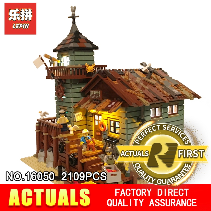 Lepin Led Light Up Kit For Old Fishing Store Model Building Block Light Set Compatible With 21310 And 16050 (Only Light Set) led light up kit gor city model building block figures accessories kit toys for children compatible with lepin