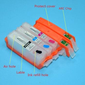 PGI-550 CLI-551 550 551 5 colores cartucho de tinta recargable con Chip de arco para impresoras Canon pgi550 cli551 IP7250 MG 6350 MG5450