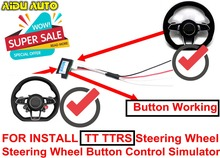 цена на Multifunction Steering Wheel Button Control Simulator Adapter For Audi A3 A4 A5 B8 A6 C7 A7 Q3 Q5 install TT TTRS Steering Wheel