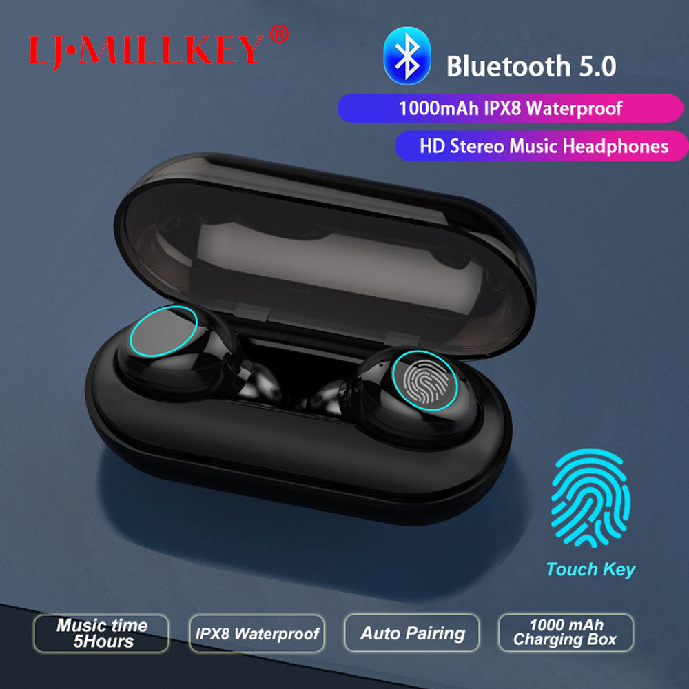 Bluetooth Wireless Headphones 5.0 Stereo Earbuds TWS Earphone Blutooth Headset with Charging Box Microphone Bluetooth Earphones