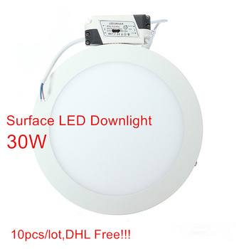 10pcs 9W 15W 25W 30W Surface Mouted Ceiling LED Downlight Panel LED Light with driver AC85-265V High Lumens DHL Free!!!
