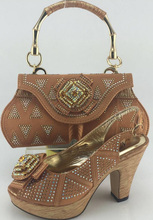 Woman Shoe With Matching Bag New Design African Shoe And Bag To Match Fashion Shoe And Bag Set For Wedding ME3317