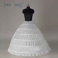 Artı Boyutu 50 s Vintage Balo Petticoat Düğün Elbise Beyaz 6 Çemberler Petticoat kabarık Slip Jüpon Kız Kabarık Etek