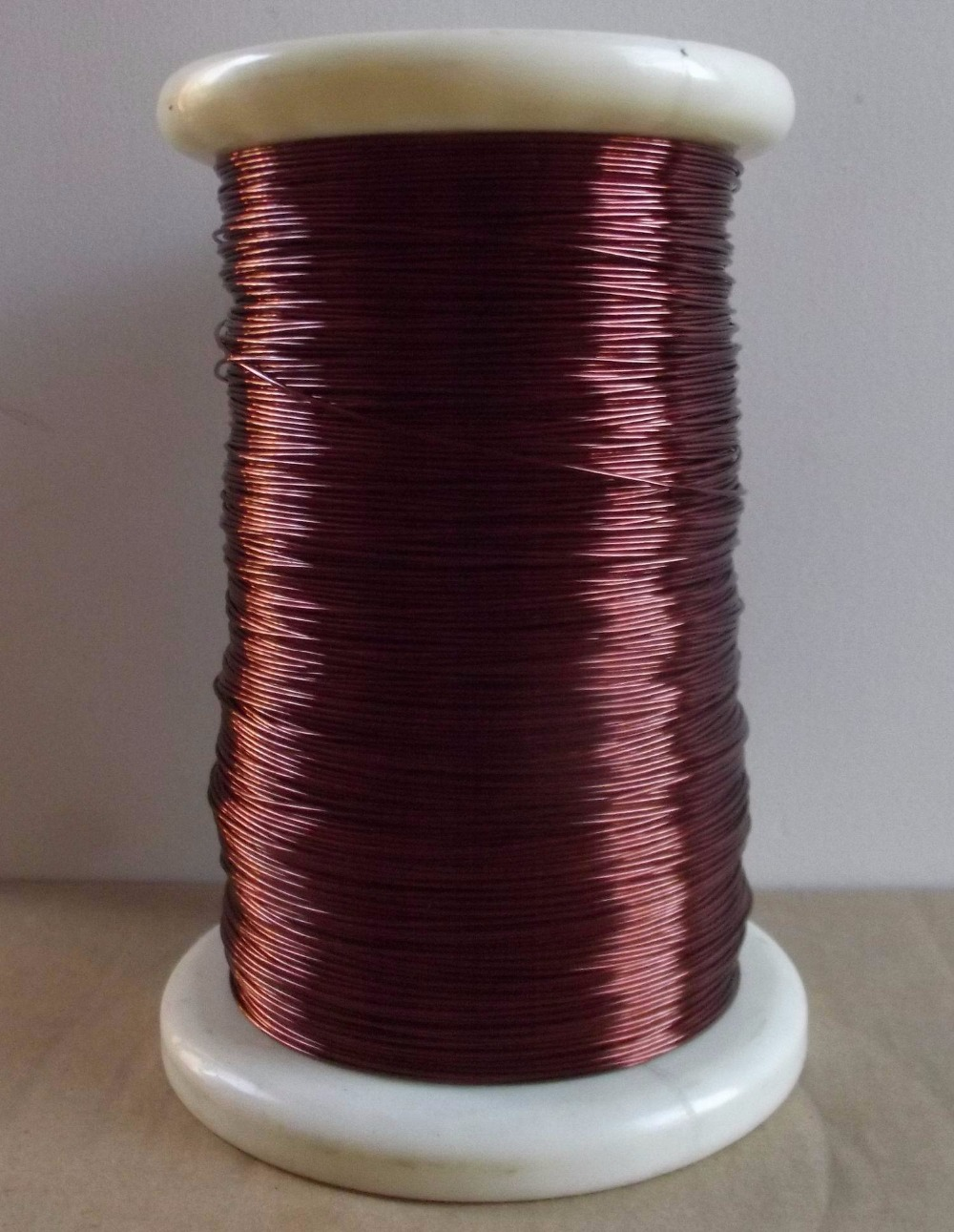 0.65mm 100meters 155deg Enameled Copper Wire Magnetic Coil Winding Red Magnet Wire