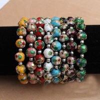 Hot selling>@@ Wholesale 20PCS Stunning CHINESE HANDMADE Cloisonne Enamel Cuff Bracelets bangle Bride jewelry free shipping