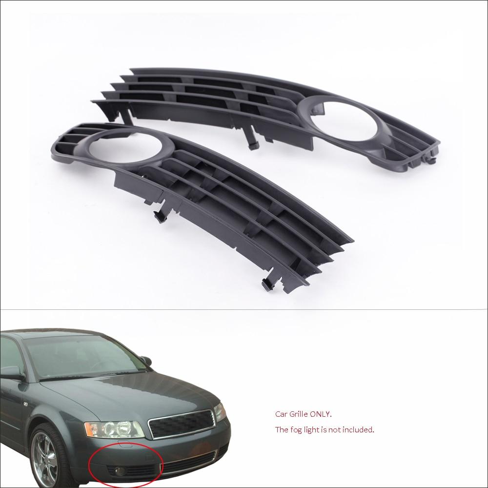 Brand New Black Grille 2Pcs Black Front Lower Side Bumper Fog Light Grille For Audi A4
