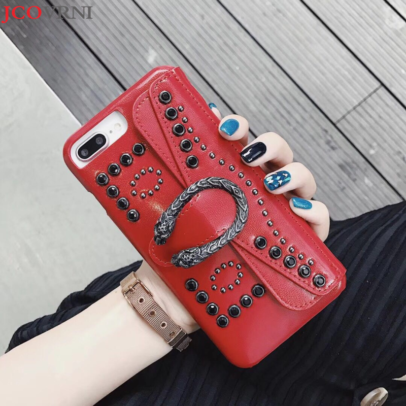 JCOVRNILuxury dames Baccarat pendentif diamant pour iPhoneX phone housse pour Apple 7 i8plus i6 6 s carte téléphone cas coque