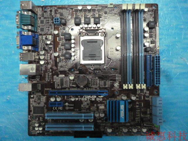 P7Q57-M DO Q57 Motherboard 1156 pin H55 P55 support I3 I5 I7