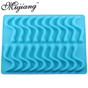 Image 4 - Mujiang 20 Cavity Silicone Gummy Snake Wormen Chocolade Schimmel Suiker Candy Jelly Mallen Ice Tube Tray Mold Cake Decorating Gereedschap