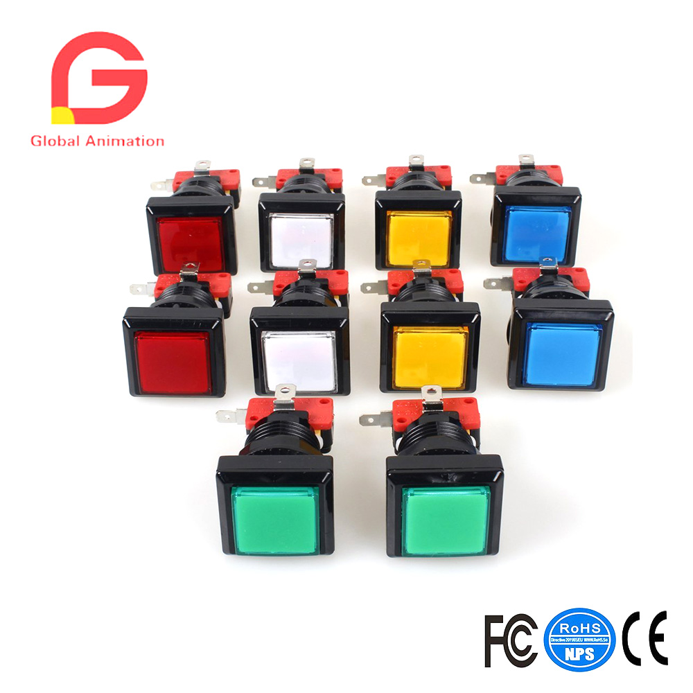 Hot Sale 10x Led Illuminated Push Button With Micro Switch For Microswitch Arcade Machine Gaming Video Game Consoles Jamma Kit Parts 12v Lamp 33mm