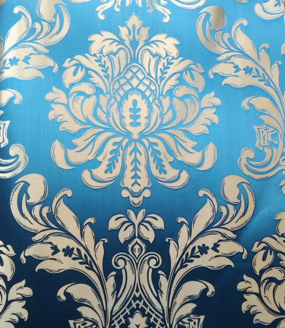 Italian Style Gold Foil Wallpaper Flowers Living Room Embossed Golden Flower Wall Papers Home