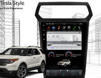 Тесла стиль android dvd плеер автомобиля gps навигации для Ford Explorer 2011 2012 2013 2015 2016 стерео Мультимедиа Аудио коврик для автомобиля