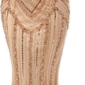 Image 5 - Женское вечернее платье в пол, элегантное роскошное длинное платье Русалка из фатина, вечерние платья в арабском стиле для выпускного вечера, WT5404
