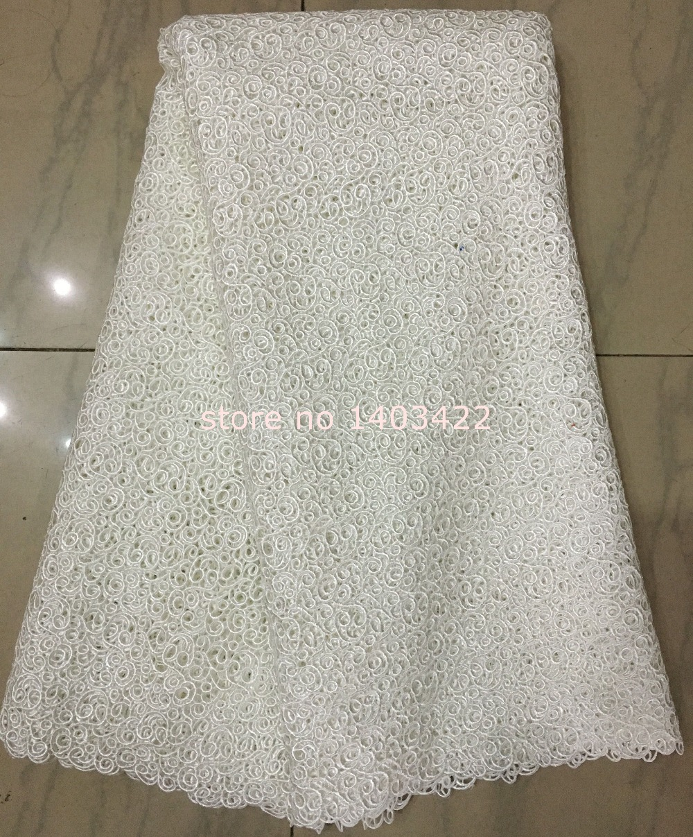 Buy white embroidery african cord laces for White lace fabric for wedding dresses