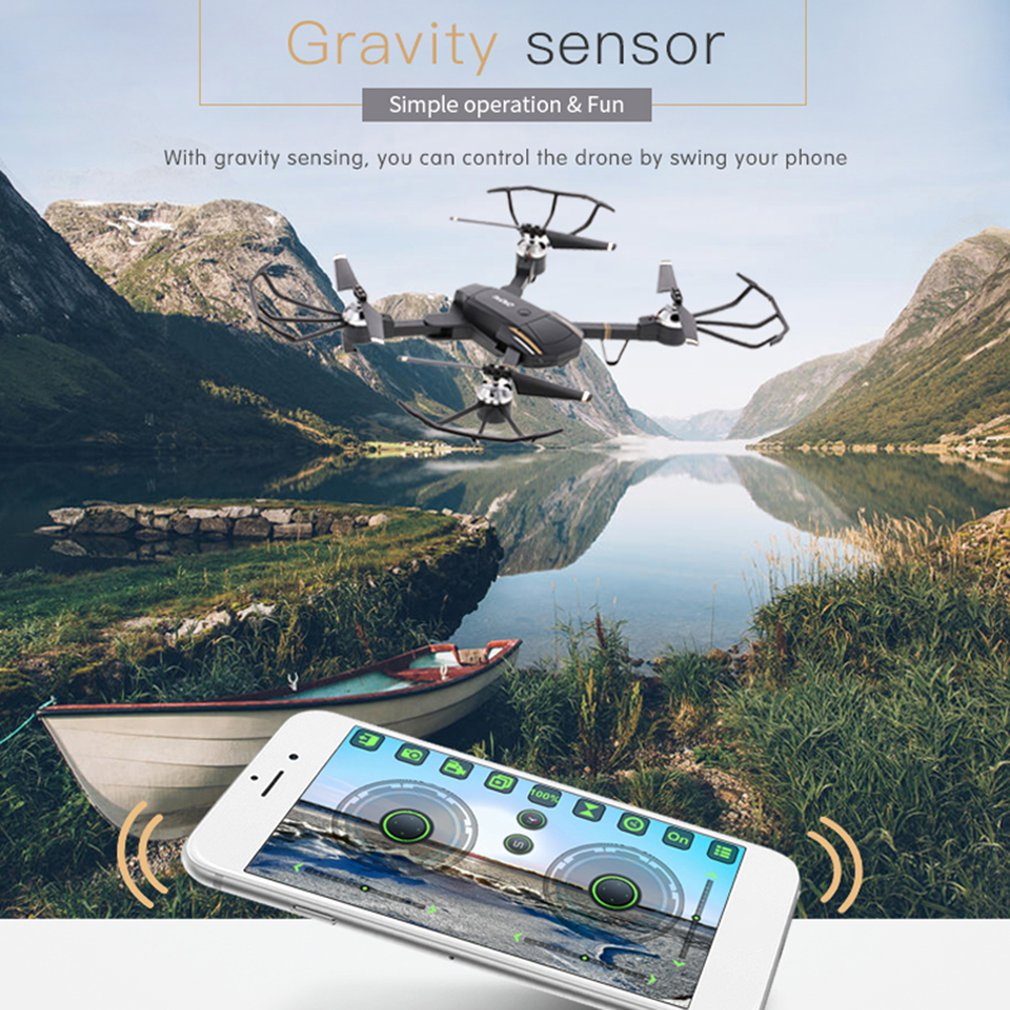 GW58 Mini Drone Wifi FPV 2.4ghz RC Drone with 640p/720p HD Camera dron Real Time Aerial Video Foldable RC Quadrocopter drones