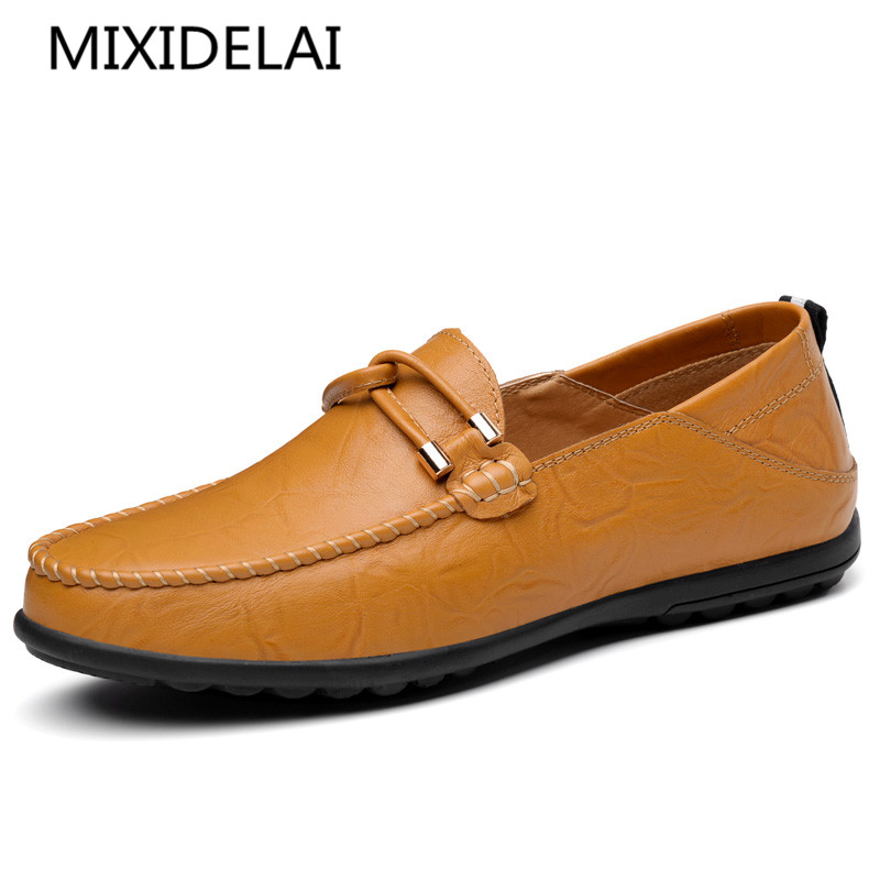 Summer spring Breathable Genuine Leather Flats Loafers Men Shoes Casual shoes Luxury Fashion Slip On Driving Designer shoes farvarwo genuine leather alligator crocodile shoes luxury men brand new fashion driving shoes men s casual flats slip on loafers