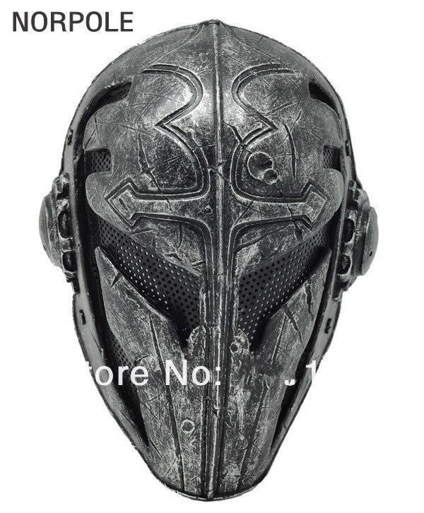 Masque Halloween Paintball Airsoft treillis métallique tissu templier masque en plastique