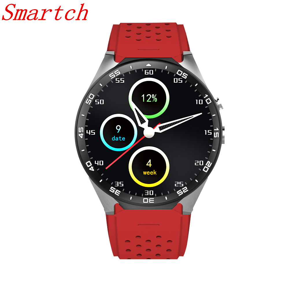 Smartch KW88 Clock Smart Watch Android 5.1 OS 2.0 MP Camera Smartwatch Support SIM 3G Network GPS WIFI Google Play/Map/Voice interpad dm98 smart watch big screen 2 2 inch ips hd huge 900mah battery android phone clock support gps wifi sim smartwatch
