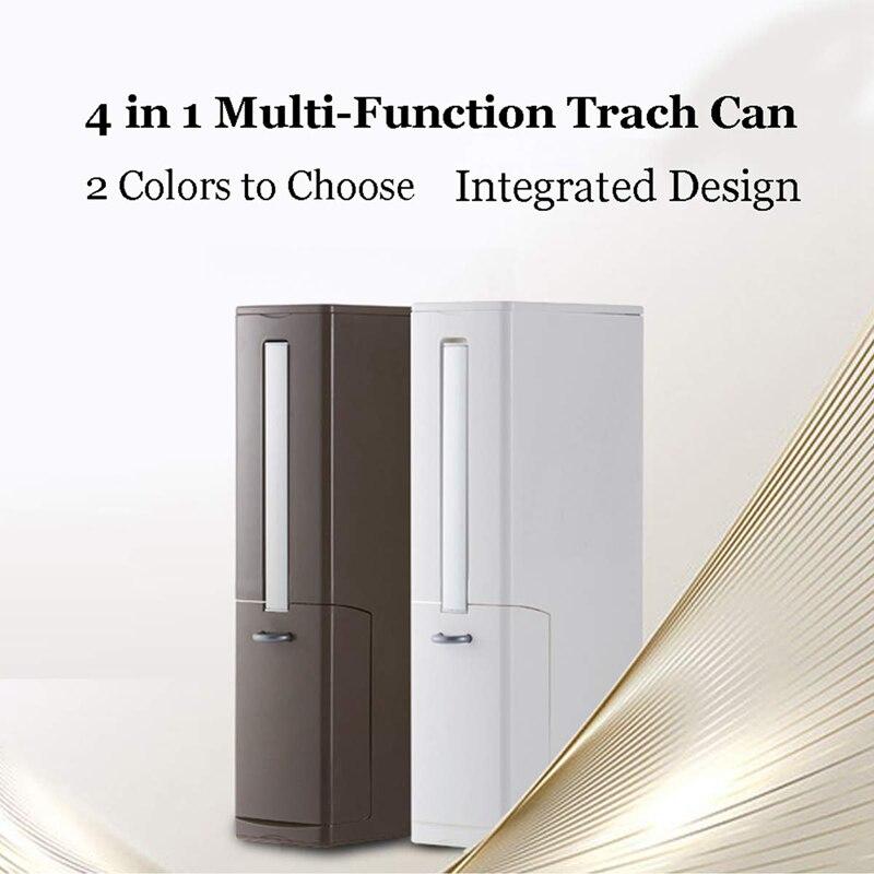 2 conjunto multi função escova de vaso sanitário conjuntos integrados com aleta lidar com forro lata de lixo casa casa de banho suprimentos caixa de armazenamento larga calib - 4
