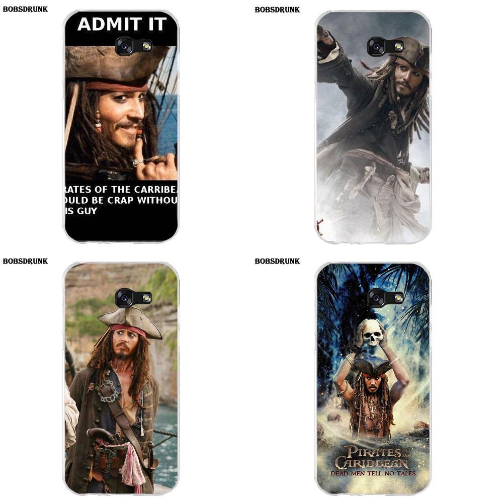 EJGROUP For Samsung Galaxy A3 A5 A7 J1 J2 J3 J5 J7 2015 2016 2017 Soft Capa Coque Pirates Of Caribbean Jack