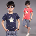 Free shipping New 2016 summer clothing sets kids pants + Top boys Five-pointed star  kids clothes children tracksuit