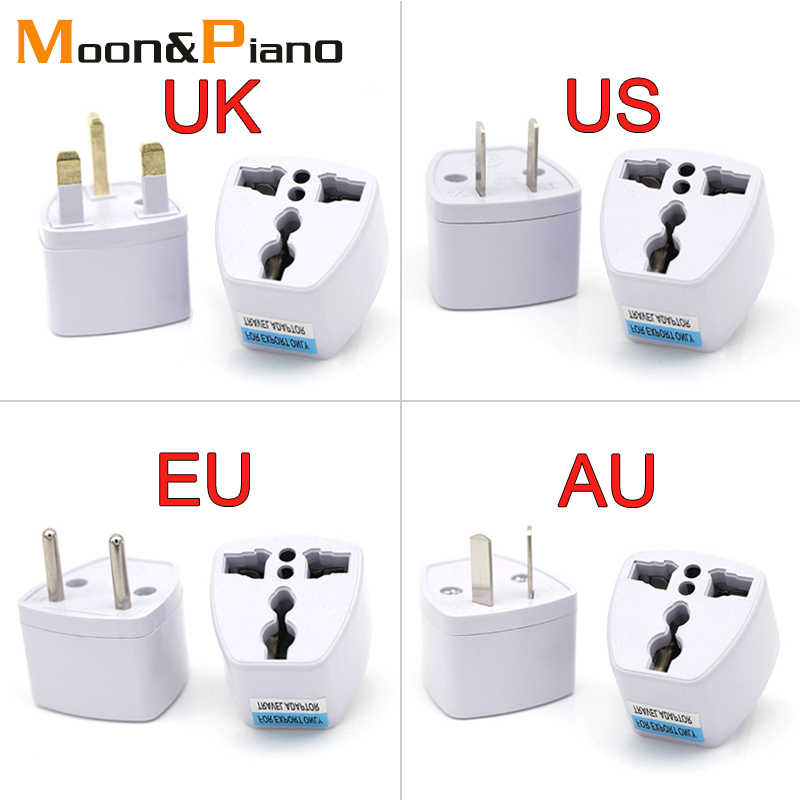 1PC Universal UK US AU EU AC Power Socket Plug Travel Electrical Charger Adapter Converter Japan China America Italy Switzerland