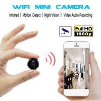 1080P HD WiFi Mini Camera Infrared IR Night Vision Micro Camcorder CCTV Video Audio Recorder Security Remote Monitor Body Cam DV