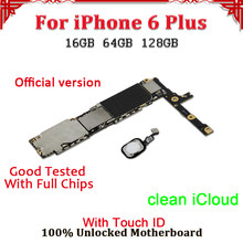 For iPhone 6 Plus mother board With/Without Touch ID,Disassemble 100% Unlocked No iCloud Logic Board For iPhone 6 Plus Mainboard(China)