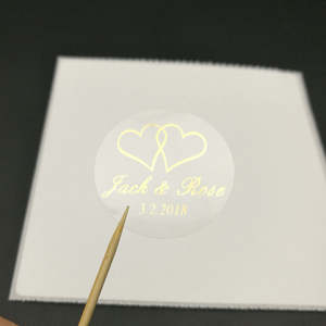 Stationery Sticker Wedding-Invitation Personalised Customize Envelope-Seals Clear Transparent