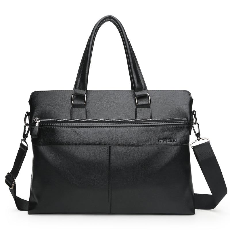 IMIDO PU leather men business messenger bag shoulder bag cross body bag laptop hand bag