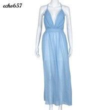 Heißer Verkauf Frauen Kleid Echo657 Neue Mode Sexy Frauen Chiffon Sleeveless Boho Lang Maxi Strandkleid Dezember 14
