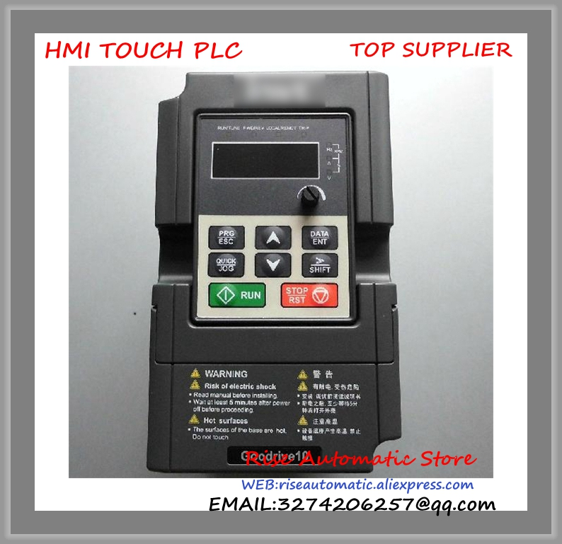 GD10-0R4G-S2-B INVT Inverter VFD frequency AC drive new 1 phase 230V 0.4KW 6.5A Input