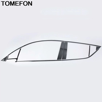TOMEFON For Toyota C-HR CHR 2016 2017 2018 Modified Window Bright Sequin Moulding Cover Trim Exterior Accessories StainlessSteel