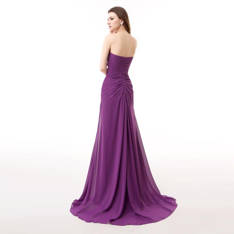 Forevergracedress Photos réelles violet longue robe de soirée Sexy sans manches en mousseline de soie perlée avec fente formelle robe de soirée grande taille - 2