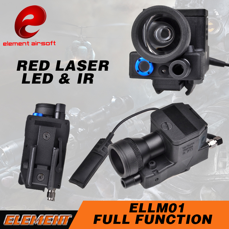 Element Weapon Light eLLM01IR Laser Red Laser Infrared Airsoft Tactical Flashlight Hunting Light For Gun EX214