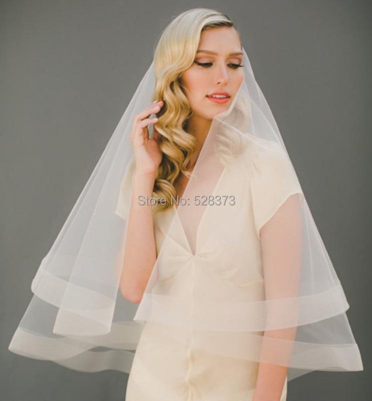 YNQNFS WV2 Chic Single Layers Bone Edge Waist Length Short Wedding Veil Birdcage Bridal Veils Wedding Accessories