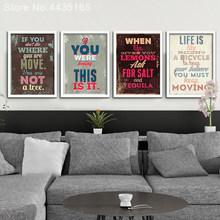 Decorative Motivational Typography Life Quotes Vintage Retro Art Prints Poster Hippie Wall Pictures Canvas Painting Home Decor(China)