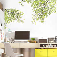 Green Tree Branch Wall Sticker Vinyl Living Room Wall Stickers Home Wall Decor Poster vinilos paredes Wall Decoration
