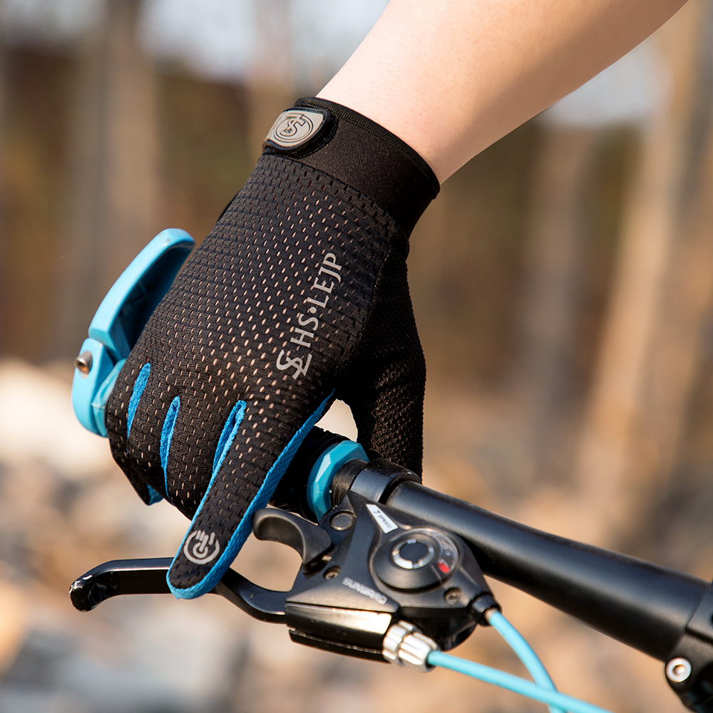 Sports Anti Slip Breathable Windproof Downhill Road Gloves Outdoor Cycling Full Finger Gloves Bicycle Bike Motorcycle Riding D20