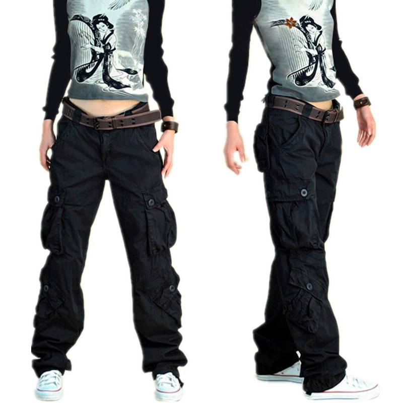 winter army cargo pants women large size 40 loose dance. Black Bedroom Furniture Sets. Home Design Ideas