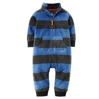 2017 Baby Clothes Bebes Jumpsuit Collar Fleece Newborn Pajamas Infants Baby Boys Clothes Toddler Boys Clothes