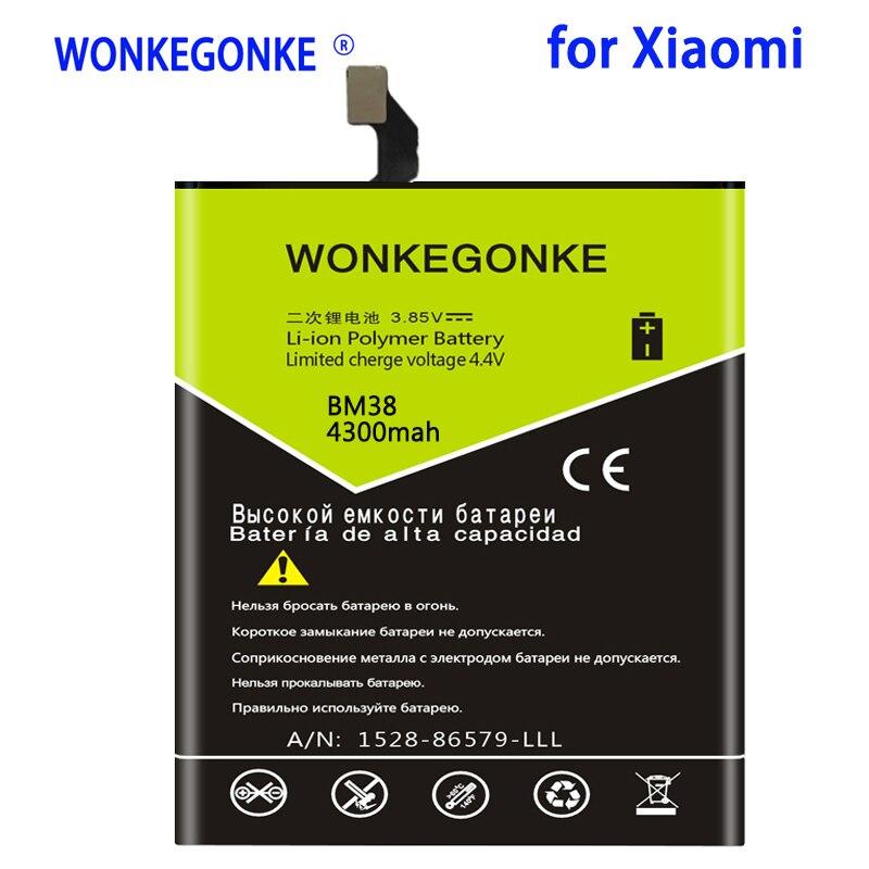 WONKEGONKE BM38 4300 mah Bateria para Xiao mi mi mi 4S 4S M4S Substituição de Baterias de Telefone Celular Bateria