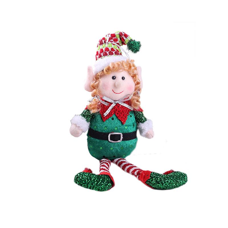 31e96ea136dd2 1pc New Christmas Tree Decoration Ornaments Cute Red Green Long-Legged Elf  Tree Toy Doll Hang Decorations Xmas Gift Home Decor