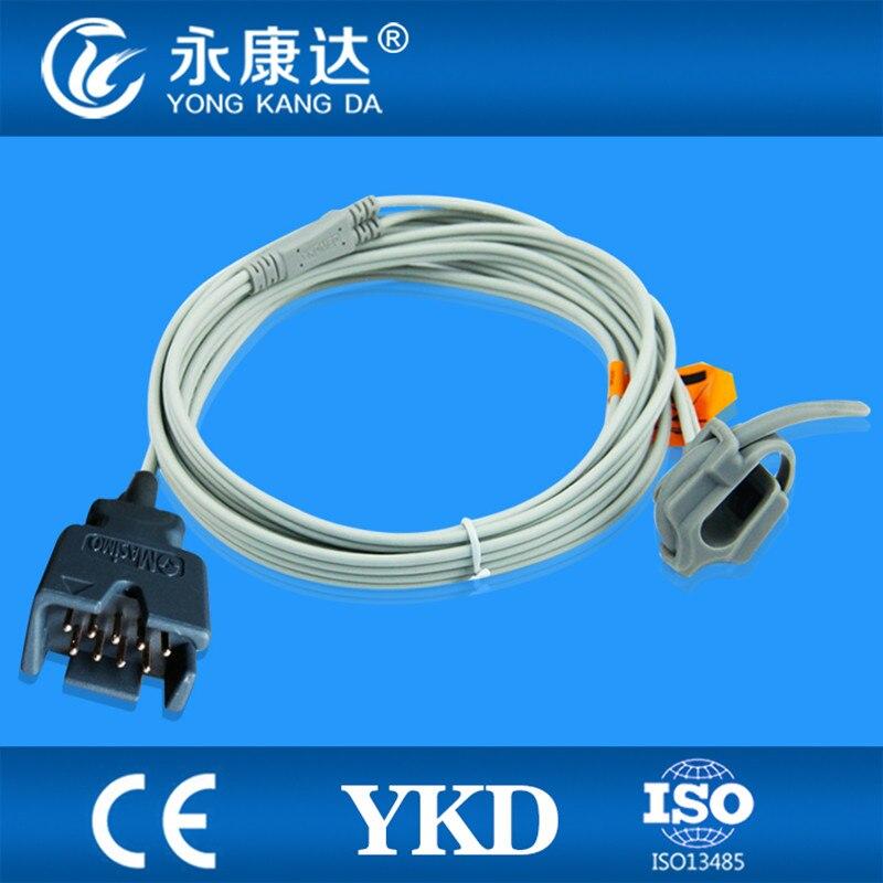 2 PCS/Lot Masimo envelopper le nouveau-né spo2 capteur, 9 pins, 1 m câble, besoins extension câble