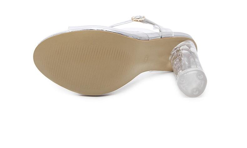 HTB10VJeXiHrK1Rjy0Flq6AsaFXak Eilyken 2019 PVC Jelly Sandals Crystal Leopard Open Toed High Heels Women Transparent Heel Sandals Slippers Discount Pumps 11CM
