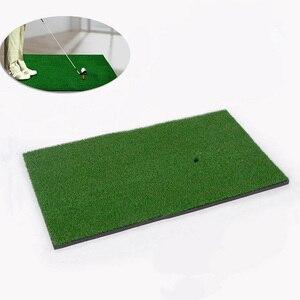 Image 1 - 裏庭ゴルフマットゴルフトレーニングエイズ屋外/屋内打撃パッド練習草マットゲームゴルフトレーニングマット草の根 60x30cm