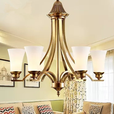 American Pastoral full copper lamp handmade European air living room bedroom decorated restaurant Chandelier Lamp LED shipping korean princess wrought lamp iron bedroom led lamp american pastoral style living room children chandelier